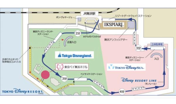 東京ディズニーリゾート周辺地図