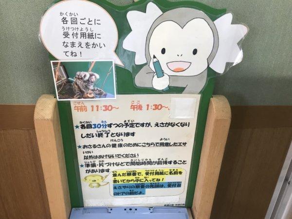 浦安交通公園のお猿さんの餌やり